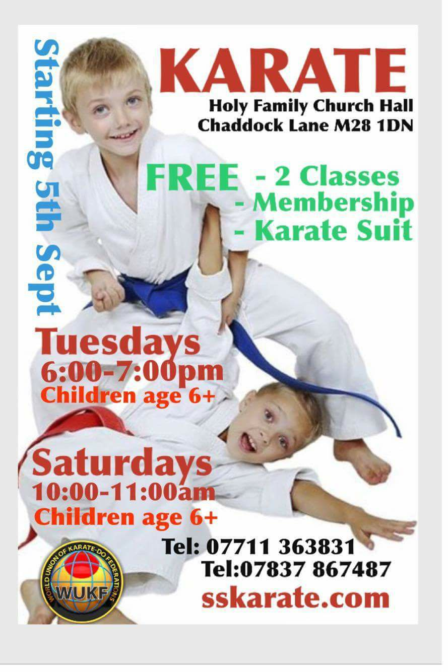 Karate Tyldesley Warrington Manchester